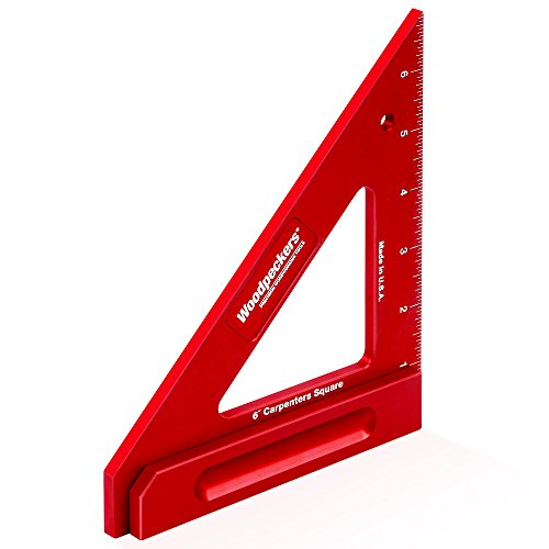 Woodpeckers Precision Woodworking Tools CRPSQ6-INRD Carpenters Square, 6-Inch (Square Dogs Bench)