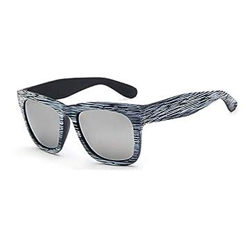 YXCCHZS Gafas De Sol Grano De Madera Espejo De Plata Gafas ...