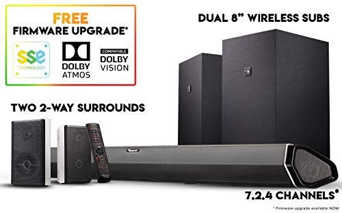 Lowest Prices! Nakamichi Shockwafe Elite 7.2Ch DTS:X 800W 45-Inch Sound Bar System with Dual 8 Subw...