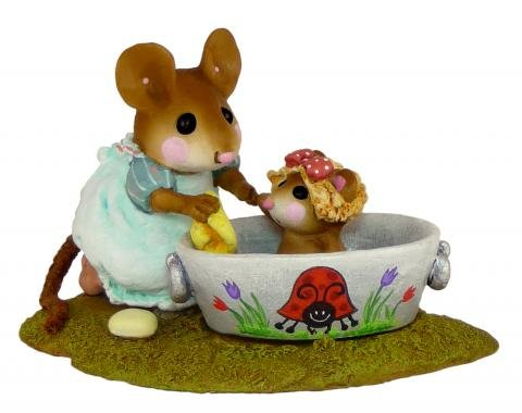 Wee Forest Folk M-301 Rub-a-Dub Dolly - Ladybug Tub