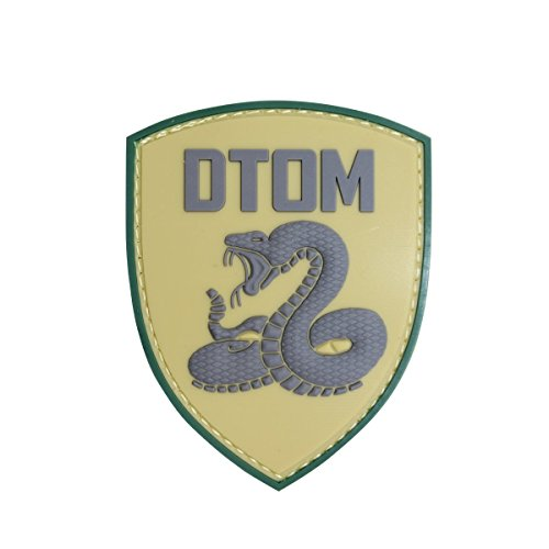 (EJG Don't Tread On Me Tactical Patch (3.4 x 2.7 Inches) DTOM Snake Morale 3D PVC Patch Rubber Military Patch Morale Patch With Hook & Loop Patch (green) )