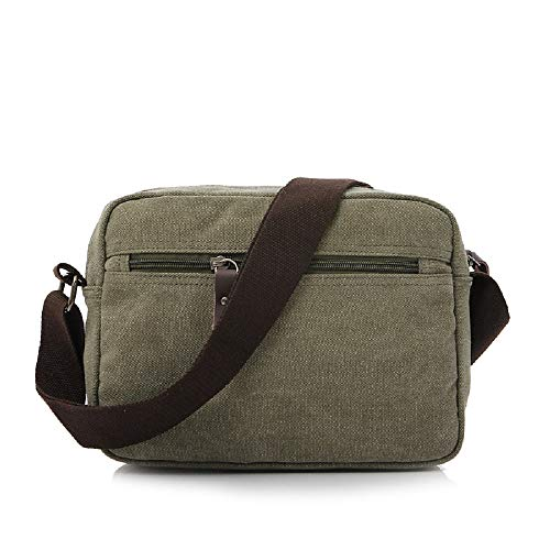 de Bag Multi Backpack Messenger Fabric Bag Vintage Casual Messenger Pocket Verde Crossbody Hombro Bag ZHRUI Unisex Bolso U0xt41Uw