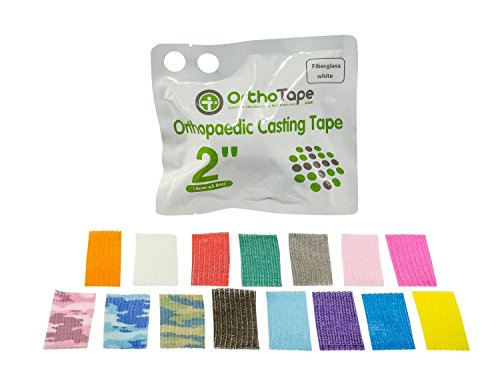 OrthoTape Premium Fiberglass Casting Tape 2-INCH (1 ROLL) (DARK BLUE) Blue Casting Tape