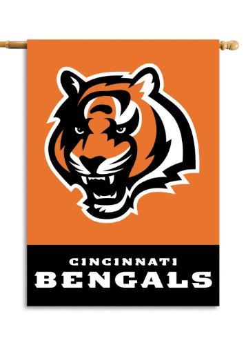 Fremont Die NFL Cincinnati Bengals 2-Sided 28-by-40-Inch House (Cincinnati Bengals Nfl Wall Hanging)