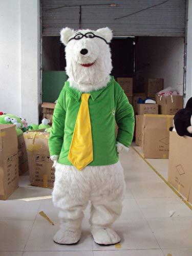 YUJUAN Cartoon Animal Polar Bear Wear Glasses Cosplay Mascot Costume Performance Prop (M(160-175CM)) -