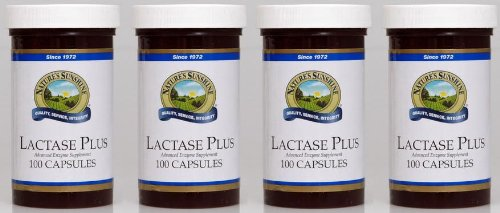 Naturessunshine Lactase Plus Digestive System Support 100 Capsules (Pack of 4)