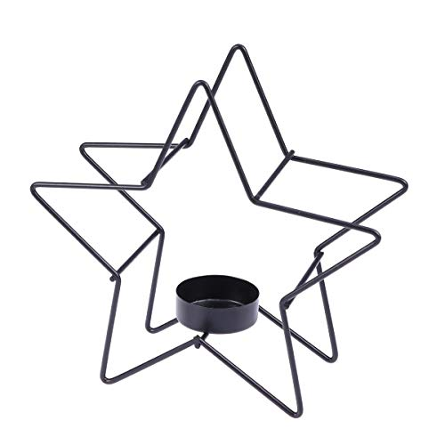 UONLYTECH Candle Holders European Style Wrought Iron Candle Stand Five-Pointed Star Tealight Holder Decor for Home Christmas - Candle Stand Star