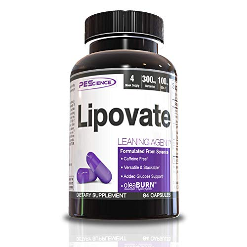 PEScience Lipovate, 84 Capsules, Caffeine Free Thermogenic with Blood Sugar Support