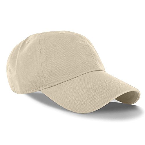 [Beige_(US Seller)Curved Bill Plain Baseball Cap Visor Hat Adjustable] (Aerobics Costume Australia)