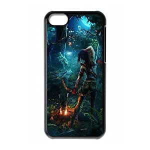 Lara Croft Tomb Raider Game iPhone 5c Cell Phone Case Black PQN6053055306362