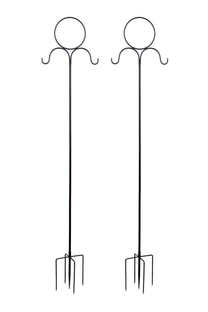 Set von 2 Haken mit Stabilisatoren zum Aufh/ängen von Einmachgl/äsern Blumenkugel und Pflanzk/örben Laternen Dipamkar/® H220 cm Solarleuchten