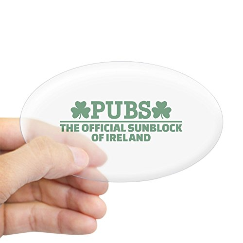 CafePress Pubs Official Sunblock of Ireland Sticker (Oval) Oval Bumper Sticker, Euro Oval Car Decal