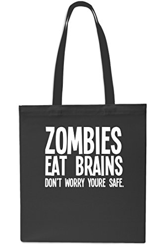 Shopping Beach You're Black Safe x38cm Brains Zombies Tote Eat Worry litrest Bag 10 Don't Small Gym 42cm Black 0AFzq