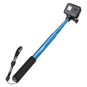 Palo Selfie Stick Luxebell Monopod de Extensión Ajustable para Cámara Gopro Hero 4 Session Black Silver 3+ 3 2 y Sjcam SJ5000 SJ4000 - Azul