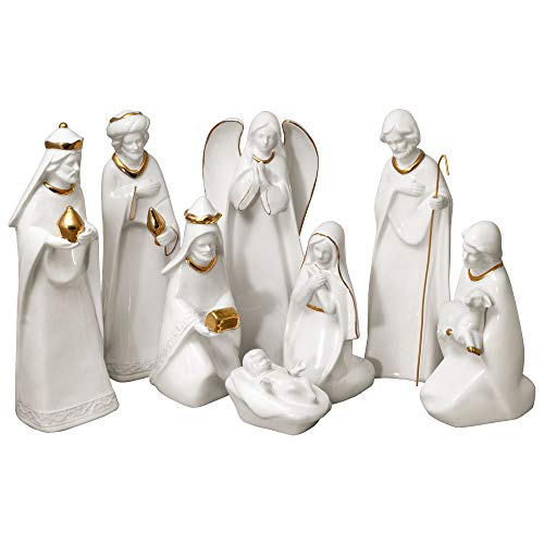 Mikasa Holiday Splendor 8 Piece Nativity Set