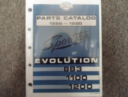 1986 1987 Harley Davidson Sportster Evolution Models Parts Catalog Manual NEW x