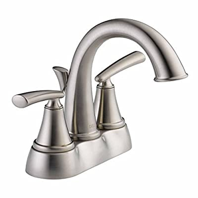 Delta 25725LF-SS Kennett 4 in. Centerset 2-Handle High-Arc Bathroom Faucet in Stainless