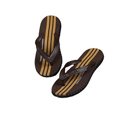 003 Uomini Design blu leggero Sandalo Per Sottile Comfort Pantofole nero Marrone Infradito Spiaggia Prova morbido qXx86Tn