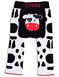 Izzy & Owie Baby Girl Cow Leggings for 12-24 Months