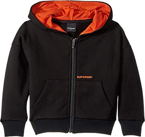 SUPERISM Baby Boy's Tatum Fleece Full Zip Jacket (Toddler/Little Kids/Big Kids) Black 7 -