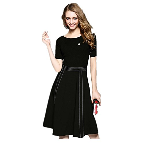 La Nuevas Falda Mujeres De Lana Las Larga Mhgao Black Punto Vestido 0wPf4wyq