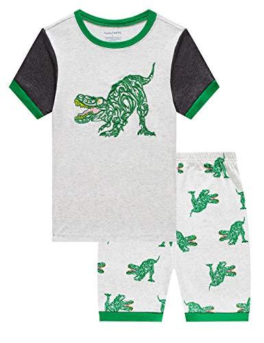 - Family Feeling Little Boys Dinosaur Pajamas Short Sets 100% Cotton Toddler Kid 4T