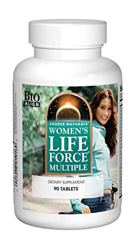 Source Naturals Womens Life Force Multiple Daily Multivitamin & Immune Health Supplement - 13 Essential Vitamins, Herbs, Minerals, Nutrients & Antioxidants - 90 Tablets