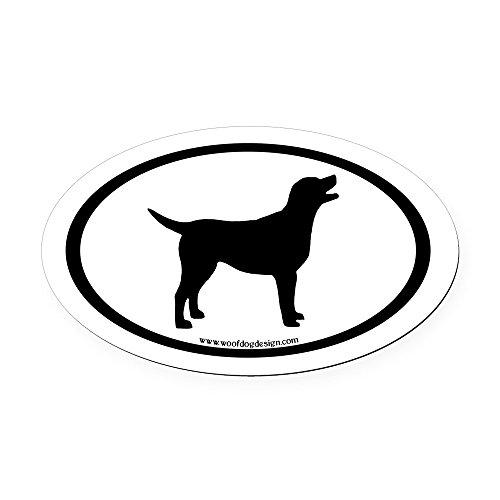 Sticker Labrador Chocolate (CafePress - Labrador Retriever Oval (Inner bdr) Oval Car Magne - Oval Car Magnet, Euro Oval Magnetic Bumper Sticker)