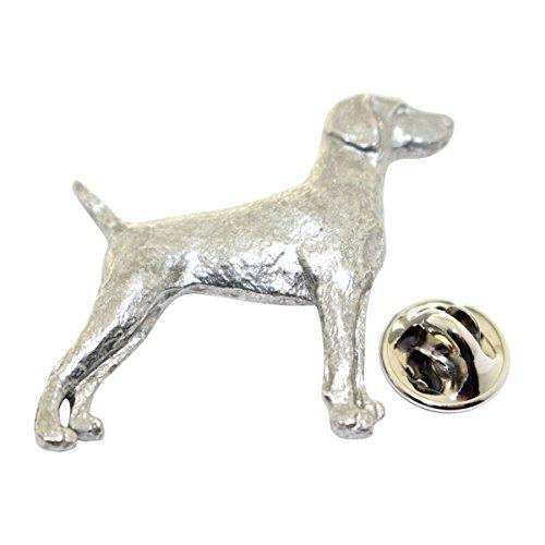 Sarah's Treats & Treasures Weimaraner Pin ~ Antiqued Pewter ~ Lapel Pin