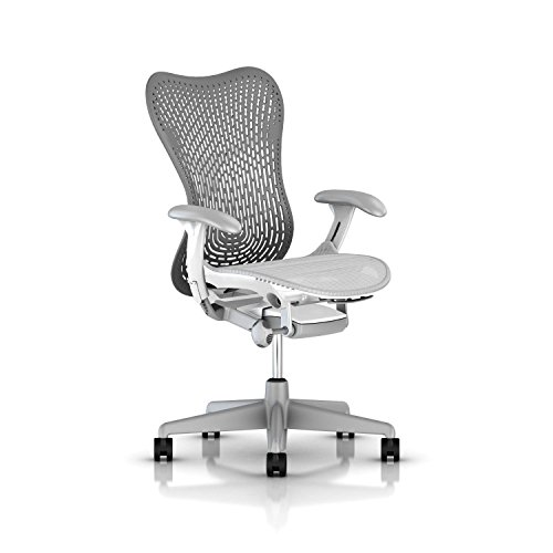 Herman Miller Mirra 2 Ergonomic Office Chair with Tilt Limiter and Fixed TriFlex Back Support | Adjustable Seat Depth, Lumbar Support, and Arms with Carpet Casters | Slate Grey/Alpine