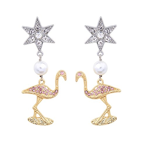 Homemade Gypsy Costumes For Men (Romantic Time Retro Diamond Pearl Earrings Ostrich Stars Dangle Earrings Crystal Women Jewelry)