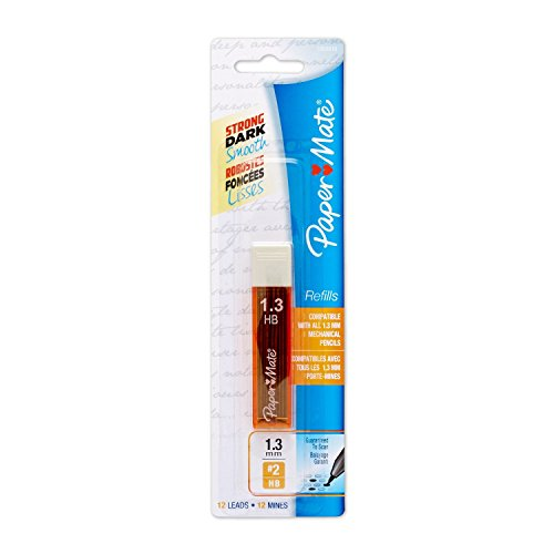 Paper Mate Mechanical Pencil Lead Refills, 1.3 mm, HB, (Papermate Refill)