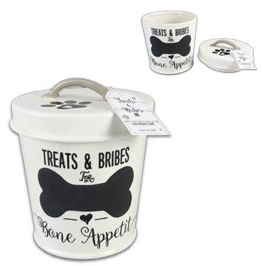 Ceramic Dog Treat Jar ()
