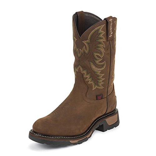Tony Lama Menns Harlingen Pullon 11 Høyde (tw1018) | Fot Tan Cheyenne Vanntett | Pullon Vestlige Støvler | Brunt Cowboy Skinnmansjett | Håndlaget I Usa