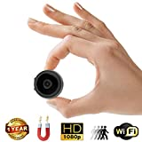 Mini Spy Camera with Wi-Fi – 35mm Wireless Hidden Camera, Home Security System, Nanny Cam – HD Wide Angle Camera with Loop Recording, Motion Detection, Night Vision + Memory Card Reader by Duddy-Cam