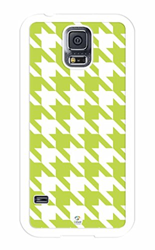 iZERCASE Green Houndstooth Pattern RUBBER Samsung Galaxy S5 Case - Fits Samsung Galaxy S5 T-Mobile, AT&T, Sprint, Verizon and International
