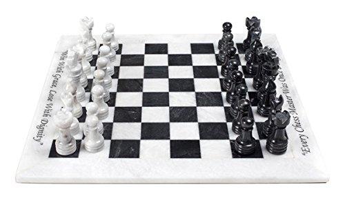 Black & White Marble Chess Set
