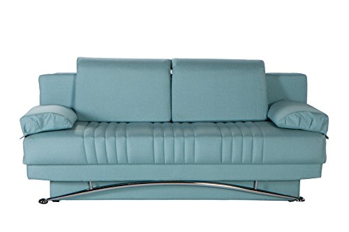 ISTIKBAL Multifunctional Futon and Sofa Queen Size Sleeper Fantasy Collection (Seafoam)