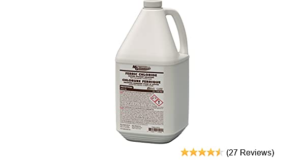 MG Chemicals Ferric Chloride Copper Etchant Solution, 4L Liquid Bottle