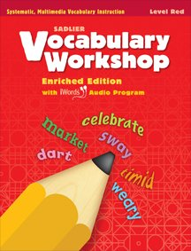 - Vocabulary Workshop Enriched Edition Red Level Grade 1