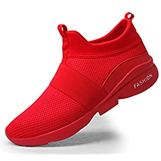 Youth Big Boys Sneakers Size 8 Men All red Shoes mesh Breathable Comfort Sport Athletic Running Walking Shoes Man Runner Jogging Shoes Casual Tennis Trainers
