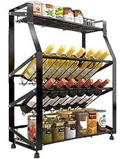 Flawsome's Condiment Spice Rack, Countertop Shelf Organizer| Rustproof | Kitchen, Bathroom, Pantry.