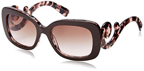brown and pink prada 女用女款's spr270 太阳镜太阳眼镜