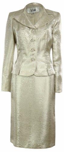 LE SUIT Urban 2-PC Jacket/Skirt Suit-SANDSTONE-4