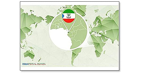 Amazon.com: World Map with Magnified Equatorial Guinea Map ... on equatorial guinea africa, ghana world map, cape verde world map, equatorial guinea on map south america, malabo map, equator location on map, heremakono on the location of guinea africa map, tunisia world map,