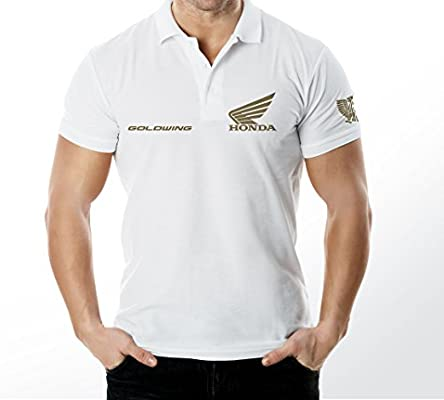 Honda GoldWing polo camiseta, Polo T Shirt Camiseta de, (blanco, L ...