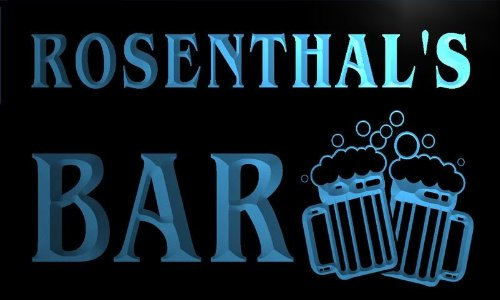 Price comparison product image w001956-b ROSENTHAL'S Name Home Bar Pub Beer Mugs Cheers Neon Light Sign
