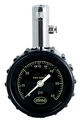 Slime 20289 Pro Series Liquid-Filled Dial Gauge, 0-60 ()