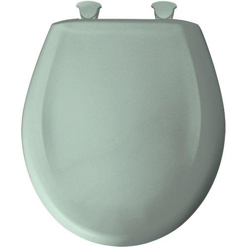 Green Toilet Seat - Bemis 200SLOWT 455 Lift-Off Plastic Round Slow-Close Toilet Seat, Seafoam