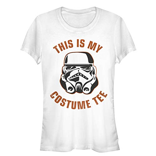 Star Wars Juniors' Halloween This is My Stormtrooper Costume White T-Shirt ()